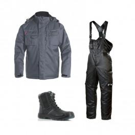 Зимний комплект спецодежды Engel Combat 1232-107 серый + Dimex 619/Safety Jogger Nordic S3