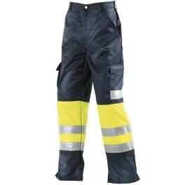Сигнальные брюки Dimex 5080, сигнальный желтый/темно-синий