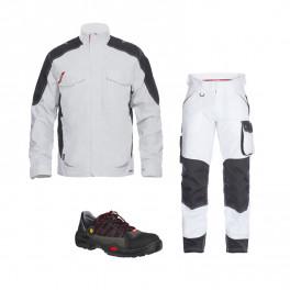 Летний комплект спецодежды Engel 1810-254 + 2810-254, белый/черный/ Jalas 1615
