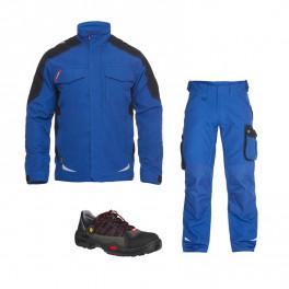 Летний комплект спецодежды Engel 1810-254 + 2810-254, синий/черный/ Jalas 1615