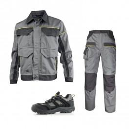 Летний комплект спецодежды Delta Plus MCVes+MCPan, серый/черный/ Safety Jogger Jumper S3