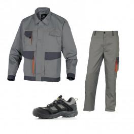 Летний комплект спецодежды DMVes+DMPan, светло-серый/оранжевый/ Safety Jogger Jumper S3