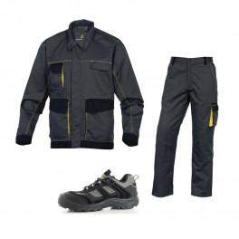 Летний комплект спецодежды DMVes+DMPan, серый/желтый/ Safety Jogger Jumper S3