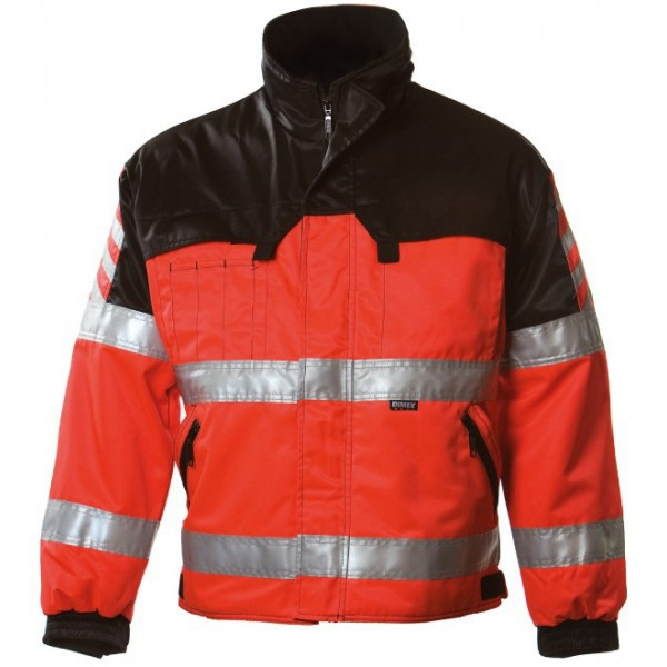 Зимняя сигнальная куртка Dimex 6240, сигнальный красный/черный