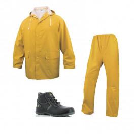 Летний комплект спецодежды Delta Plus EN304, Желтый/ Safety Jogger Eos S3