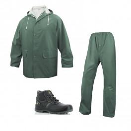 Летний комплект спецодежды Delta Plus EN304, Зеленый/ Safety Jogger Eos S3