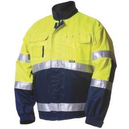 Зимняя сигнальная куртка Dimex 5092, сигнальный желтый/синий