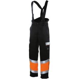 Зимние рабочие брюки Dimex 6160, сигнальный оранжевый/черный