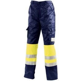 Зимние сигнальные брюки Dimex 5262, сигнальный желтый/синий