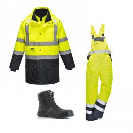 Сигнальный комплект спецодежды s426 + S489 сигнальный желтый/ Safety Jogger Nordic S3