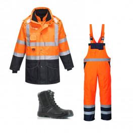 Сигнальный комплект спецодежды s426 + S489 сигнальный оранжевый/ Safety Jogger Nordic S3