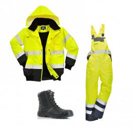 Сигнальный комплект спецодежды c465 + s489 желтый/черный/ Safety Jogger Nordic S3
