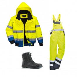 Сигнальный комплект спецодежды c465 + s489 желтый/тёмно-синий/ Safety Jogger Nordic S3