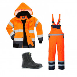 Сигнальный комплект спецодежды c465 + s489 оранжевый/ Safety Jogger Nordic S3
