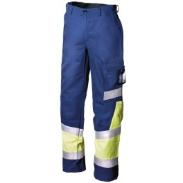 Рабочие брюки DIMEX 658 мультизащита, сигнальный желтый/темно-синий