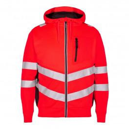 Сигнальная куртка Engel Safety Sweat Cardigan 8025-241 красный/черный