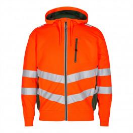 Сигнальная куртка Engel Safety Sweat Cardigan 8025-241 оранжевый/зеленый