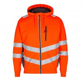 Сигнальная куртка Engel Safety Sweat Cardigan 8025-241 оранжевый/серый