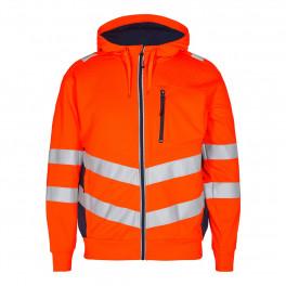 Сигнальная куртка Engel Safety Sweat Cardigan 8025-241 оранжевый/синий