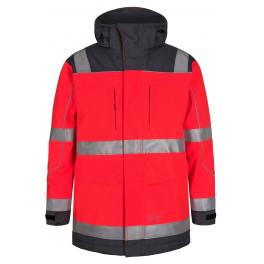 Сигнальная куртка-парка Engel Safety 1400-928 красный/серый