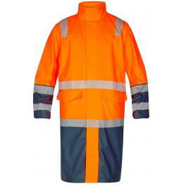 Сигнальный плащ-дождевик Engel Safety 1917-102 оранжевый/синий