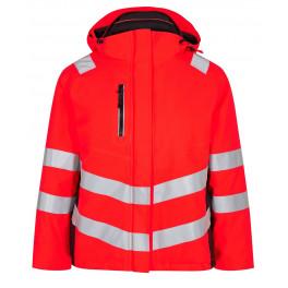 Женская зимняя сигнальная куртка Engel Safety 1943-930 красный/черный