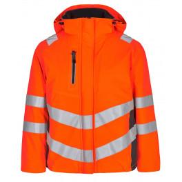 Женская зимняя сигнальная куртка Engel Safety 1943-930 оранжевый/серый