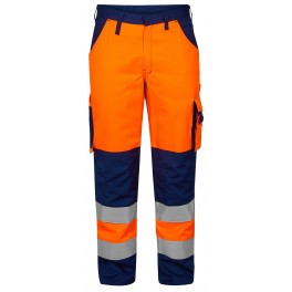 Сигнальные брюки Engel 2501-525 оранжевый/синий