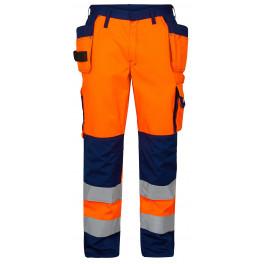 Сигнальные брюки Engel 2502-775 оранжевый/синий