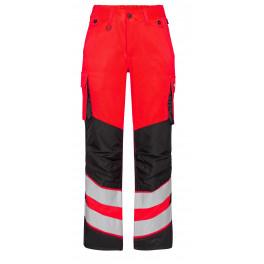 Женские сигнальные брюки Engel Safety 2543-319 красный/черный