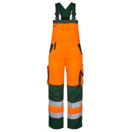 Женский сигнальный полукомбинезон Engel Safety 3541-770 оранжевый/зеленый
