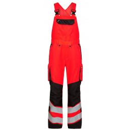 Женский сигнальный полукомбинезон Engel Safety 3543-319 красный/черный