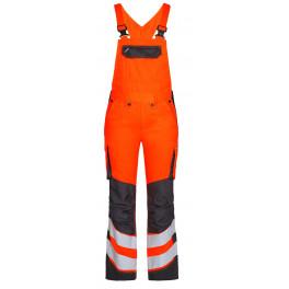 Женский сигнальный полукомбинезон Engel Safety 3543-319 оранжевый/серый