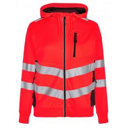 Женская сигнальная толстовка Engel Safety 8027-241, красный/черный