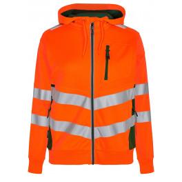 Женская сигнальная толстовка Engel Safety 8027-241, оранжевый/зеленый