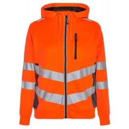 Женская сигнальная толстовка Engel Safety 8027-241, оранжевый/серый