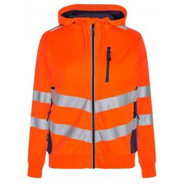 Женская сигнальная толстовка Engel Safety 8027-241, оранжевый/синий