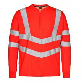 Футболка Engel Safety Grandad L/S 9548-182, красный