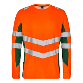 Футболка Engel Safety L/S 9545-182, оранжевый/зеленый