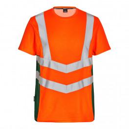 Футболка Engel Safety S/S 9544-182, зеленый/оранжевый