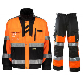 Летний костюм Dimex 60191+6020, сигнальный оранжевый/черный