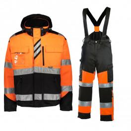 Зимний костюм Dimex 60211+6022, сигнальный оранжевый/черный