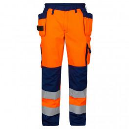 Сигнальные брюки Engel 2502-775, оранжевый/темно-синий