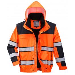 Зимняя светоотражающая куртка Portwest C466 3в1,  оранжевый