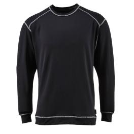 Антибактериальная футболка с длинными рукавами Portwest B153, черный