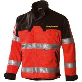 Сигнальная куртка Dimex 6210, сигнальный красный/черный