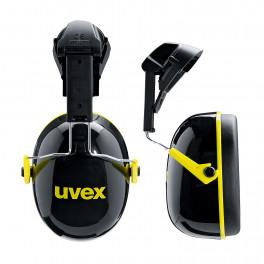 Наушники противошумные Uvex K2H на каску, чёрно-жёлтый