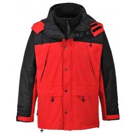 Утепленная дышащая куртка Portwest S532 3 в 1, красный/черный