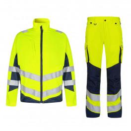 Летний сигнальный костюм Engel 1545+2545 (желтый/темно-синий)
