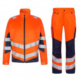 Летний сигнальный костюм Engel  1545+2545 (оранжевый/синий)